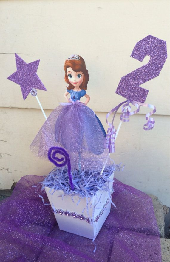 Sofia the First birthday party Centerpiece!!!! Are you having the Sofia the - Sofia The First Centerpiece Birthday Party Centerpieces, Party