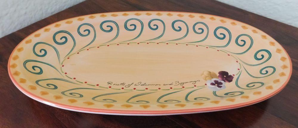 Pfaltzgraff VILLA DELLA LUNA 17\  Oval Risotto Platter ~ Original Retired # Pfaltzgraff & Pfaltzgraff VILLA DELLA LUNA 17\