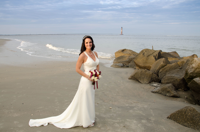 beautiful beach bride photo on Folly Beach Bride photo