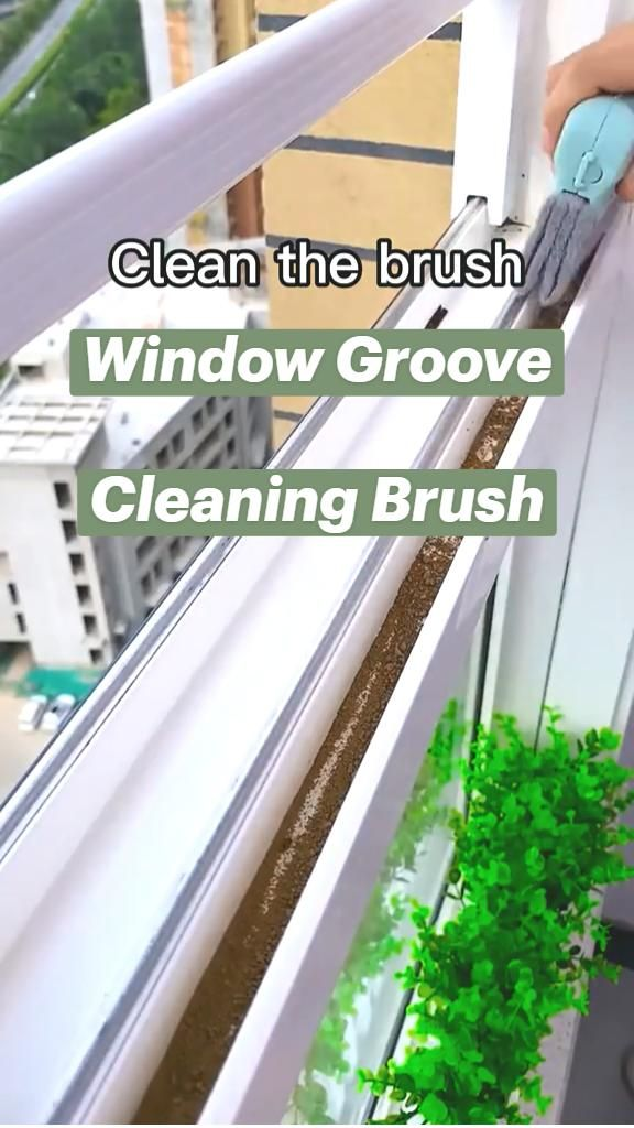 Creative Window Groove Cleaning Brush, Hand-held Crevice Cleaner Tools, Magic Window Cleaning Brush