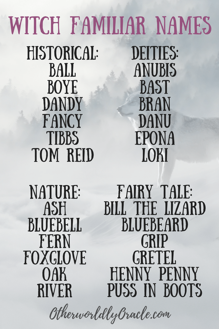 Wiccan names for boys