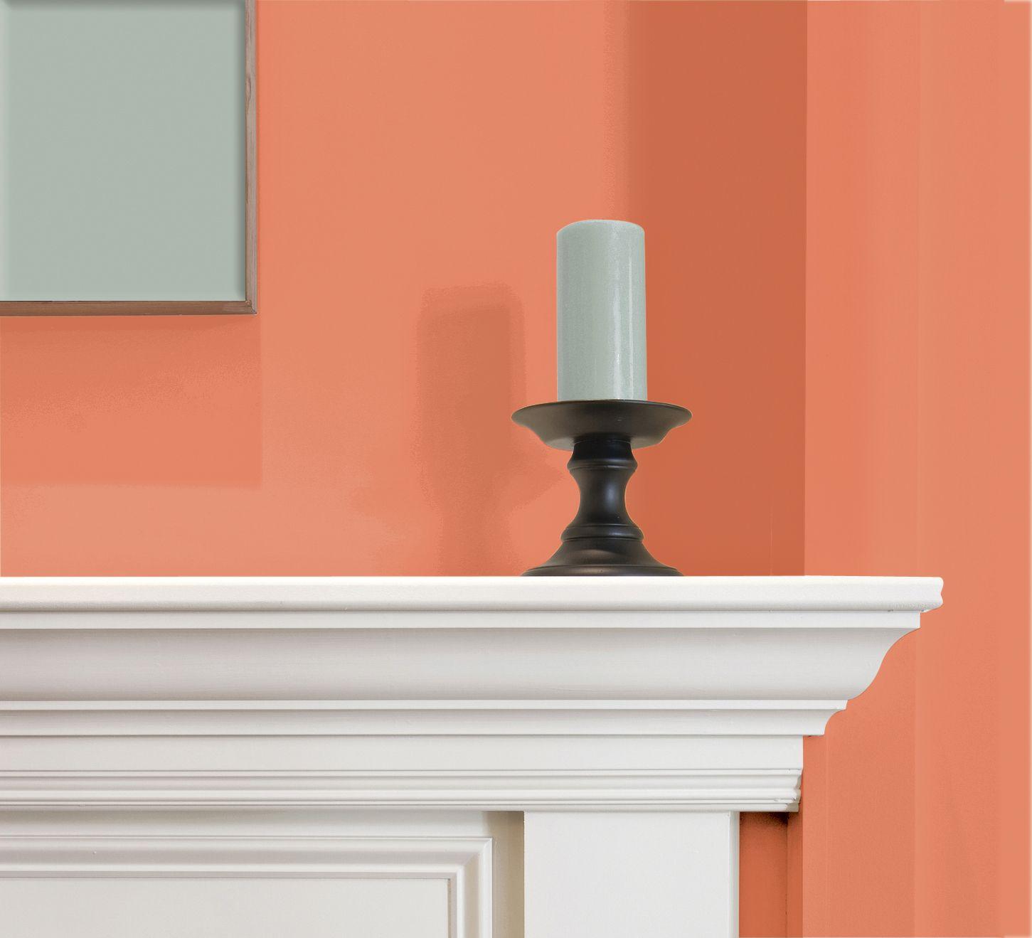 Color comparison - fireplace color. www.PrestigePaints.com