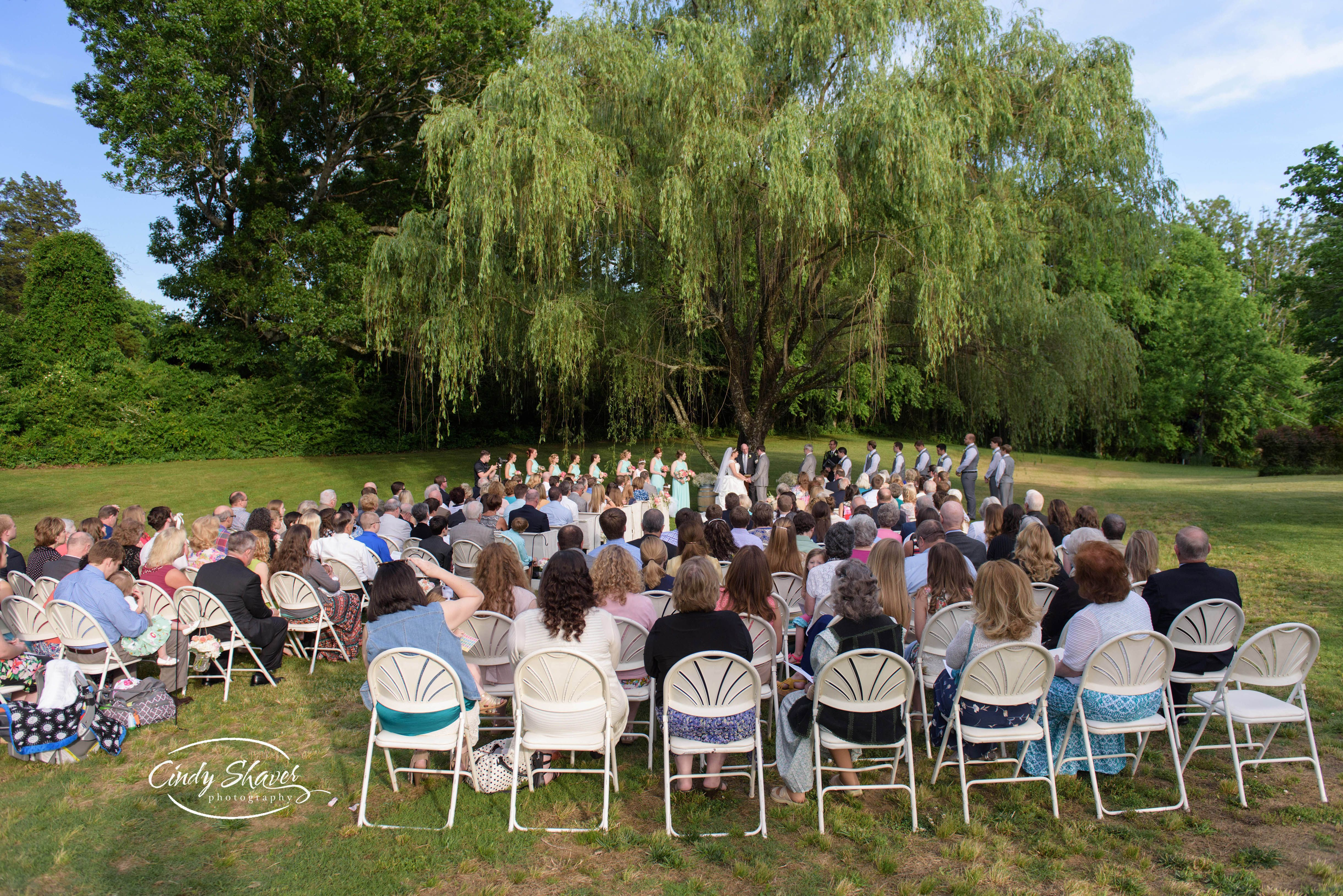 Outdoor Wedding Ceremony At Sacred Stone Venue In Fayetteville Tn Tennessee Real Weddings