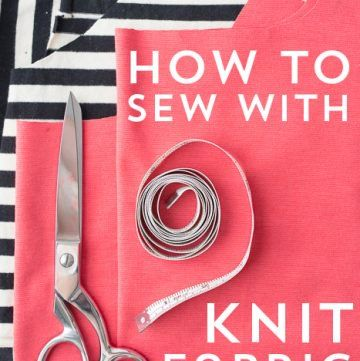 How to Sew Knits - a reference guide on the polka dot chair