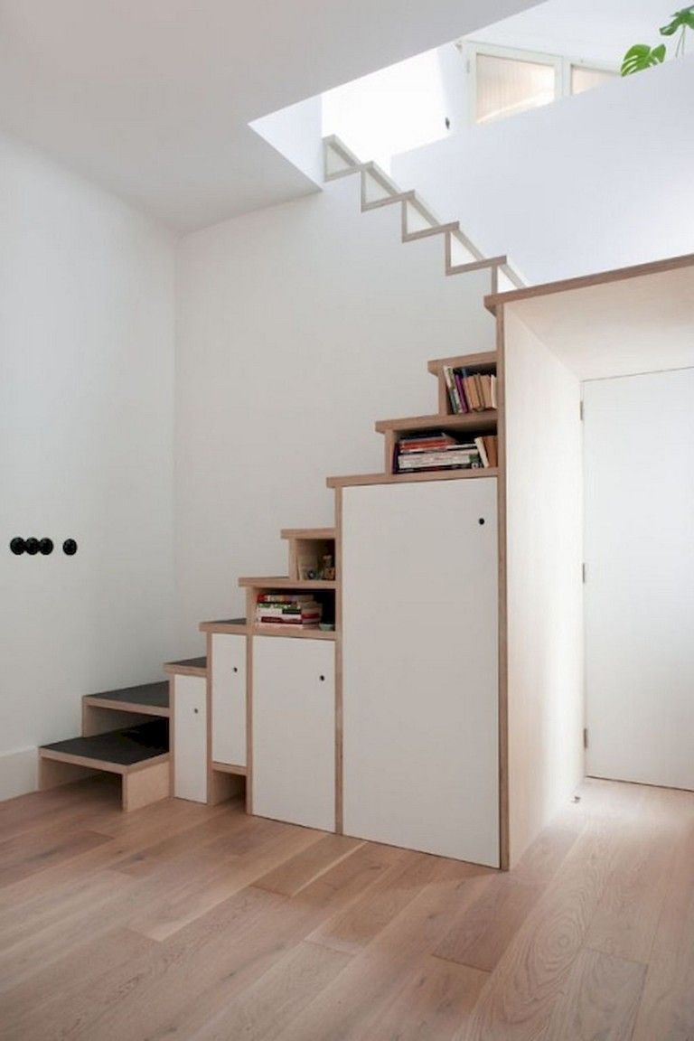 50+ Awesome Loft Stair Design and Storage Organization Ideas