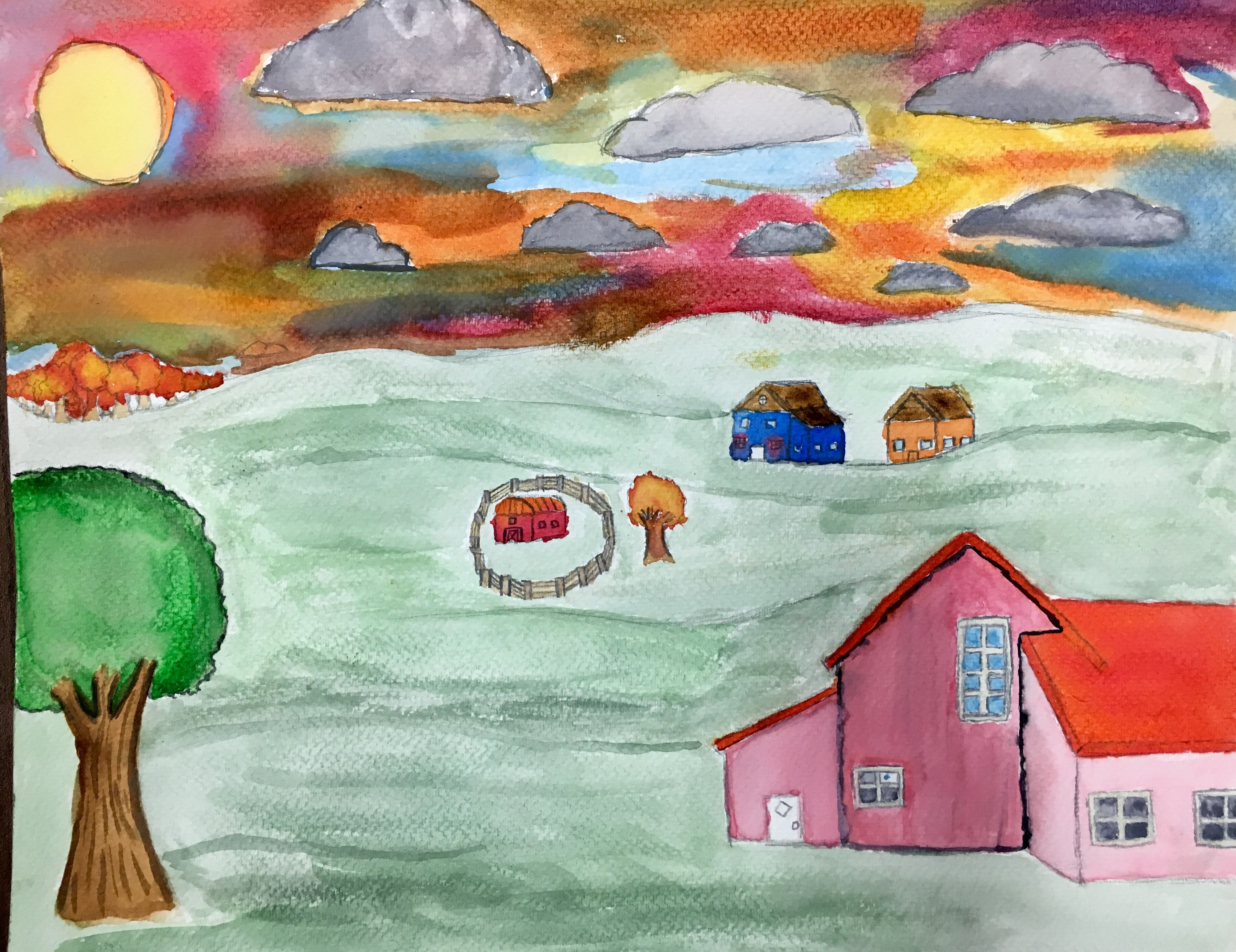 6th Grade Landscapes Key Concepts Foreground Middle Ground Background Color Mixing