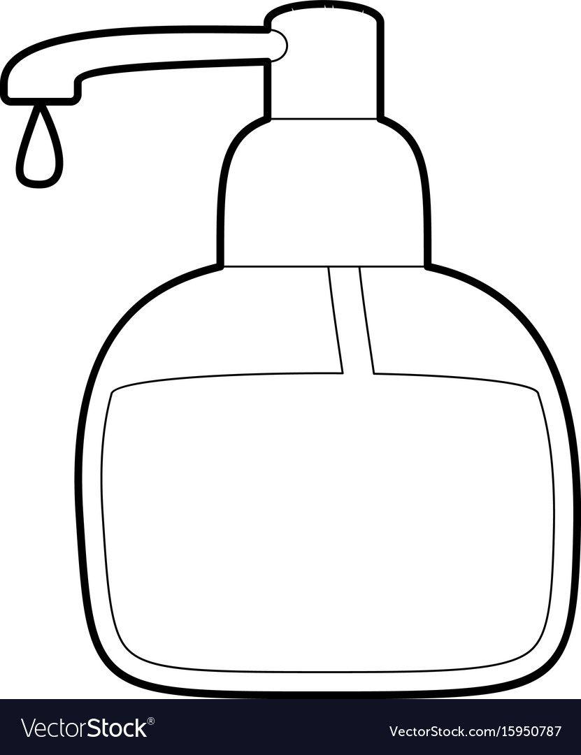 Liquid Soap Icon Outline Vector Image On Soap Icon