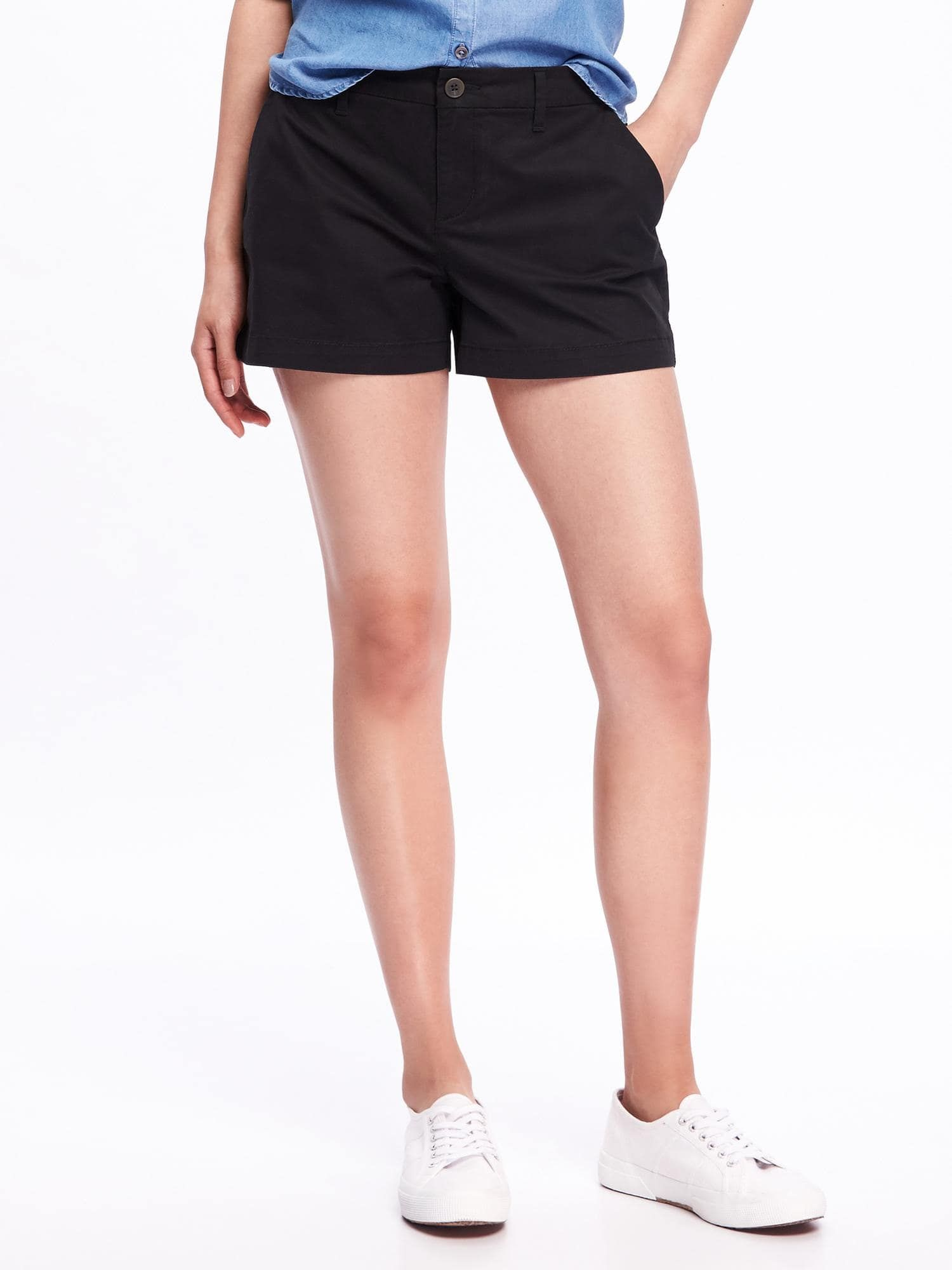 6475498cc68e4 Relaxed Mid-Rise Everyday Shorts For Women - 3.5 inch inseam ...