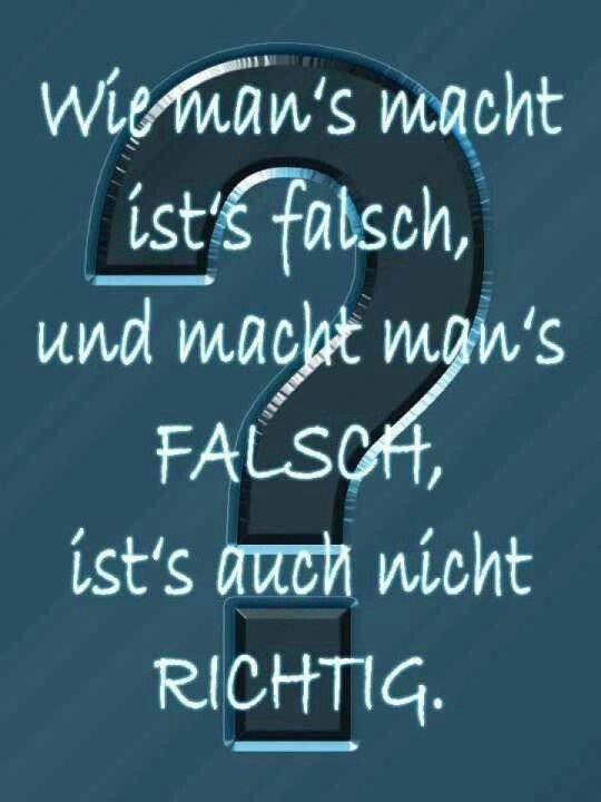 Falsch, Falsch, Falsch | lustige sprüche | German quotes ...
