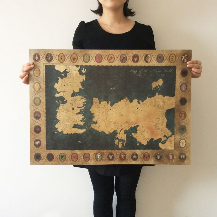 Game of thrones world map vintage poster price 999 free game of thrones world map vintage poster price 999 free shipping gumiabroncs Gallery