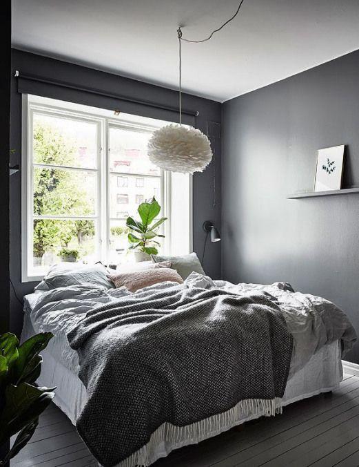 Beautiful dark bedroom - via Coco Lapine Design blog
