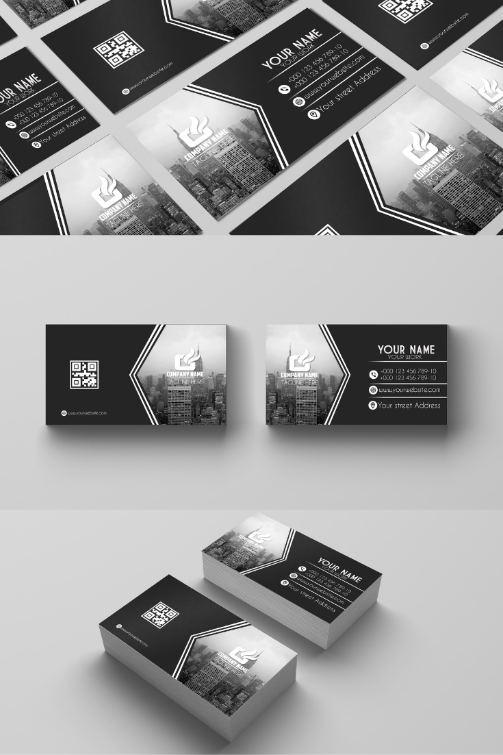 Black White Business Card White Business Card Business Card Design Business Cards