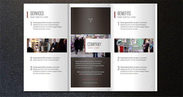 Brosur perusahaan untuk company profile 30 Contoh Desain Brosur - company brochure templates