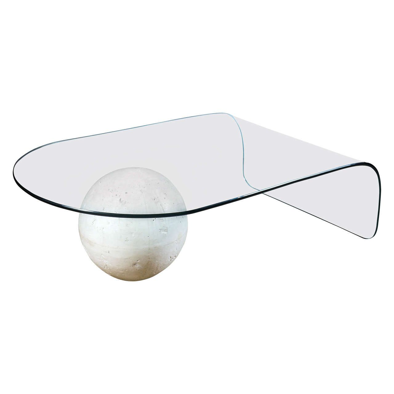 Glass Coffee Table With Plaster Sphere Base 1stdibs Com Glass Coffee Table Coffee Table Cocktail Tables [ 1280 x 1280 Pixel ]