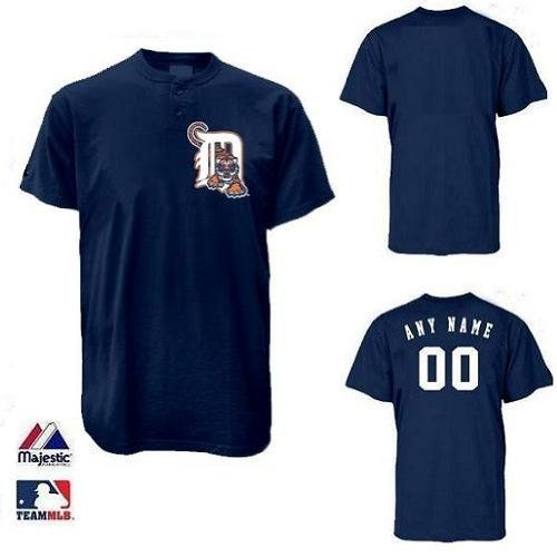 Detroit Tigers 2 Button Custom Or Blank Back Mlb Licensed Authentic Replica Major League Baseball Jerse Detroit Tigers Baseball Jerseys Major League Baseball