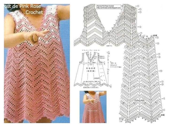 Kinder Baby Kleid häkeln - crochet baby dress   :: CROCHET CHILDRENS ...
