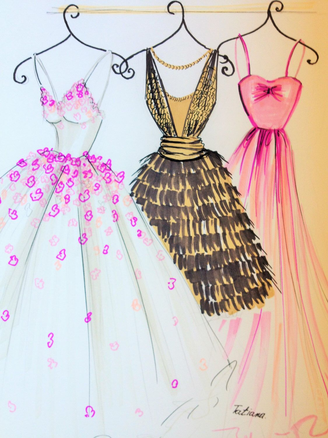 It's just a picture of Selective Drawing Of Dress Design