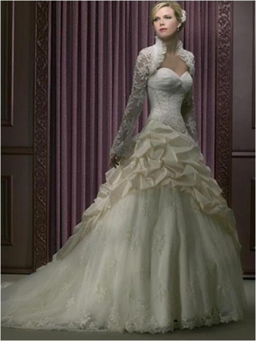 1036 Bridal Gowns With Lace Overlay Winter Wedding Dress With A