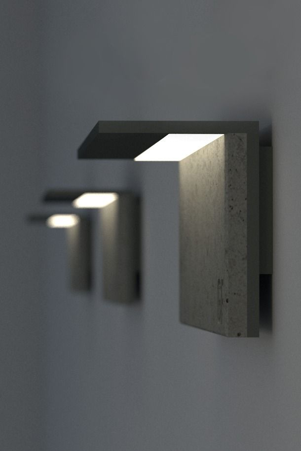 Concrete Sconce Corner Modern Outdoor Wall Lighting Modern Lighting Design Concrete Light