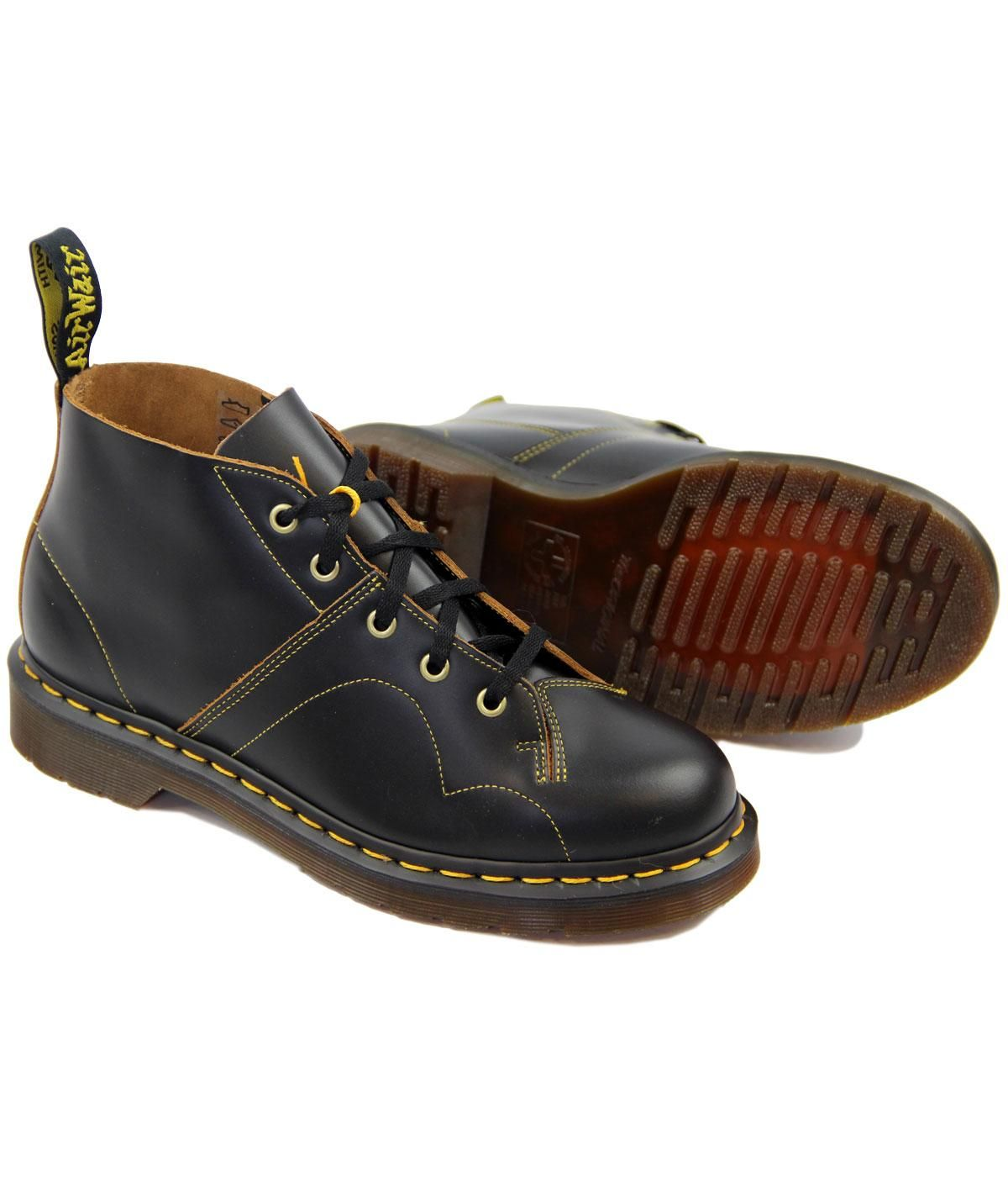Dr Martens Church Retro 60's Mod Monkey Boots in Black