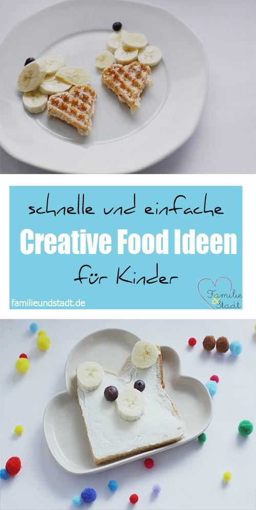 schnelle creative food ideen f r kinder pins von. Black Bedroom Furniture Sets. Home Design Ideas