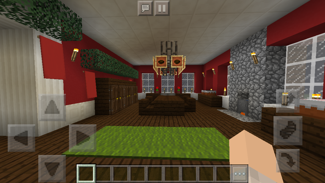 Colonial Christmas House Kitchen minecraft interior