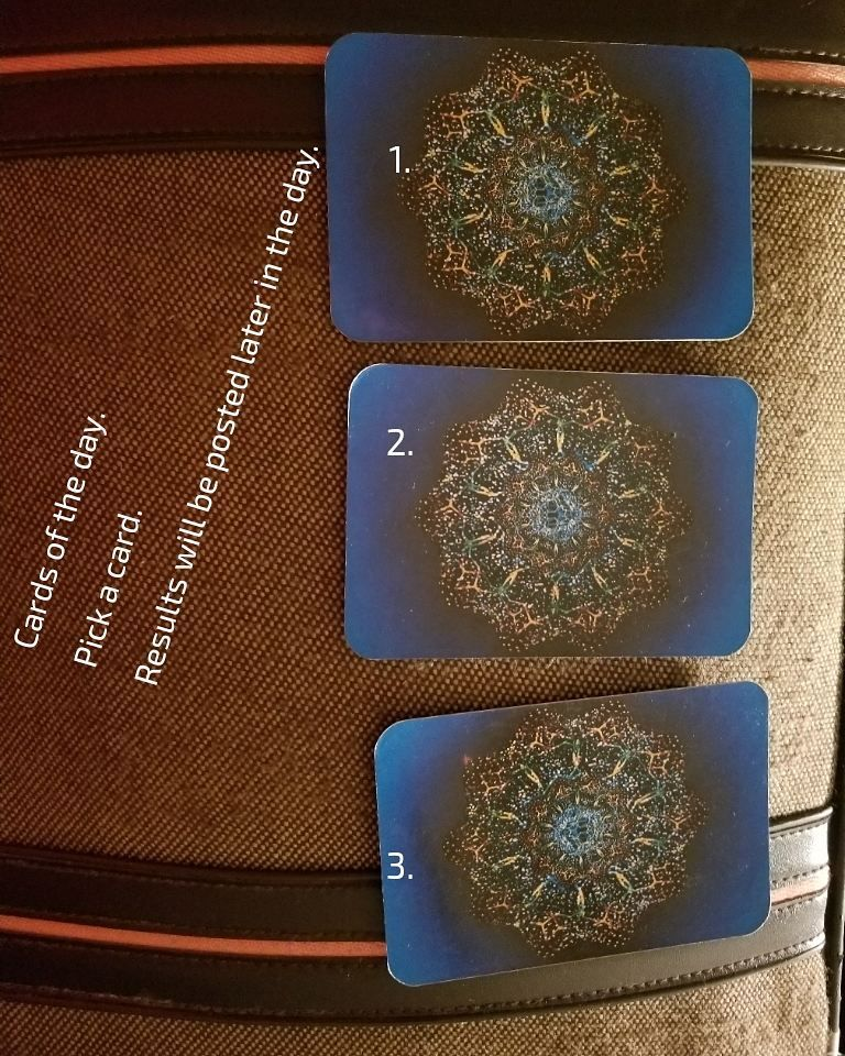 Cards of the day pick a card results will be posted