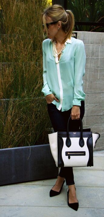 That mint shirt is awesome!