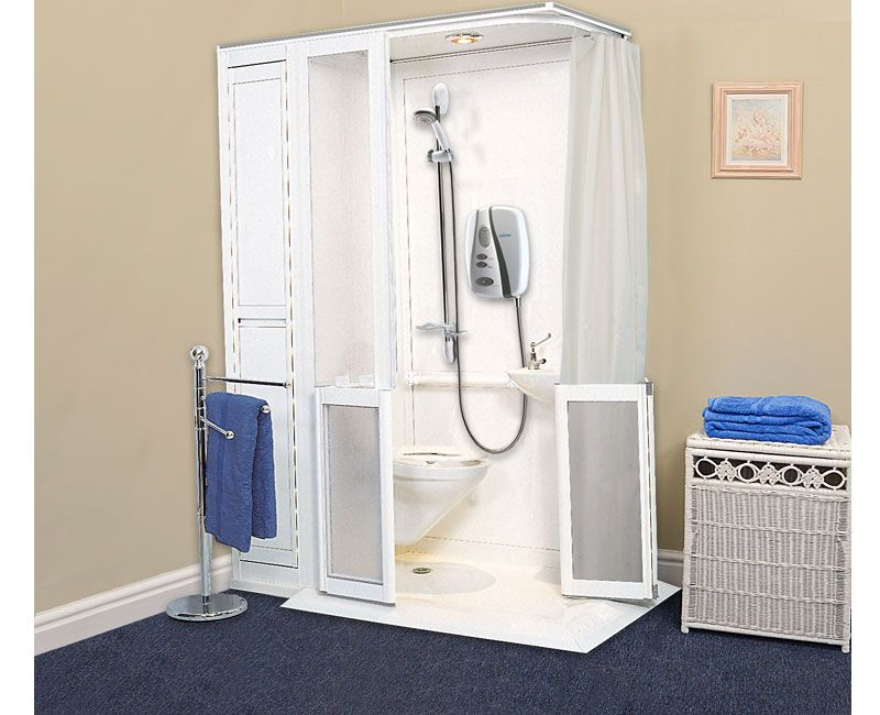 Contour Showers | UK Specialists In Disabled Showers   Half Disabled WC  Shower Cubicle 6