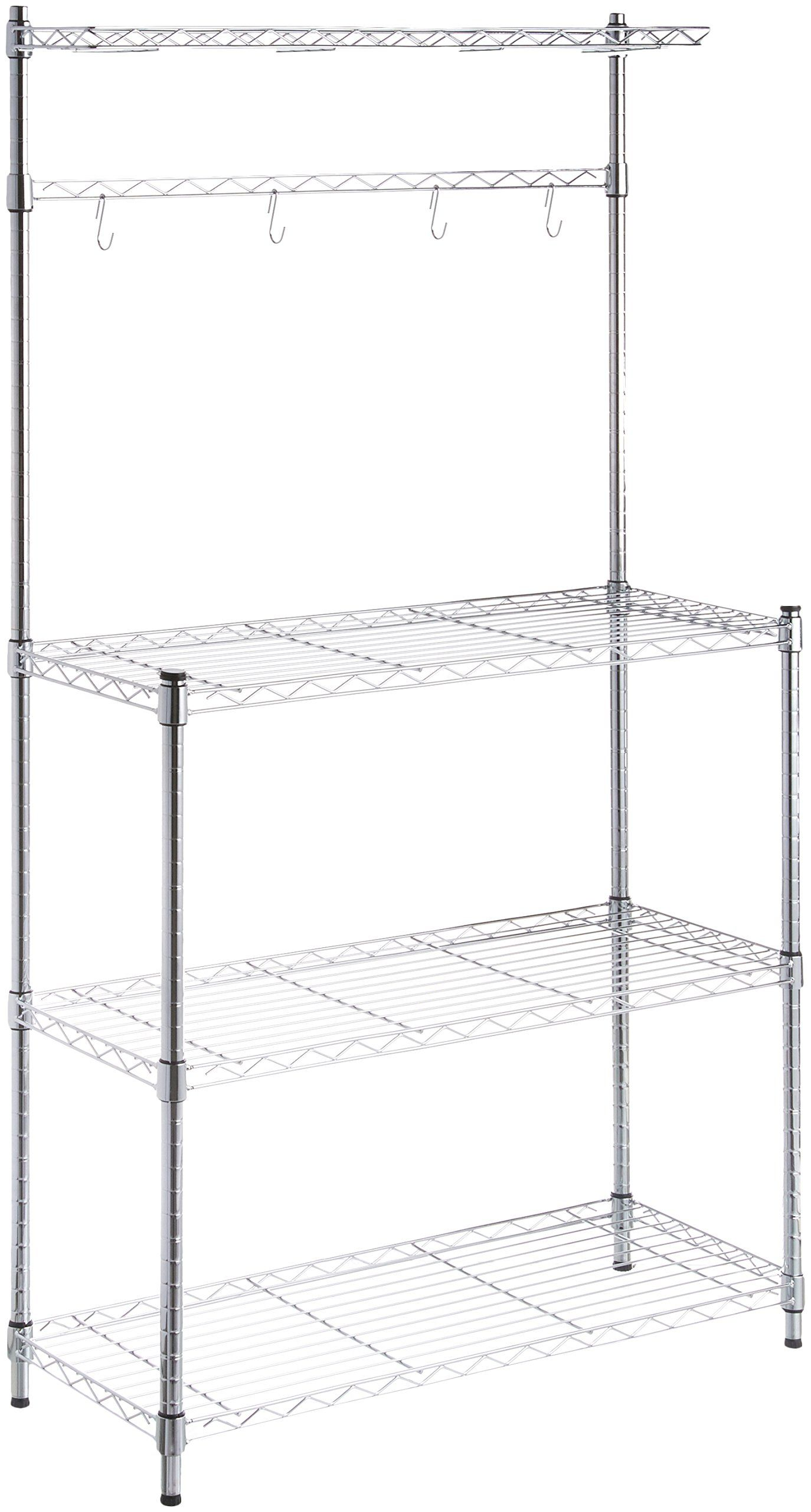 Amazonbasics Bakers Rack Wood Chrome Check Out This Great