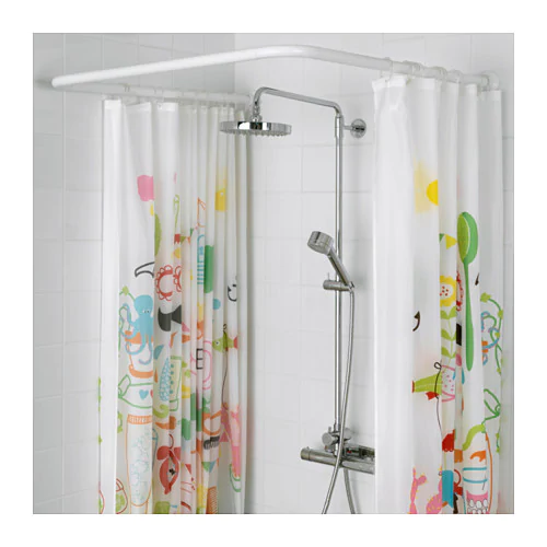 Vikarn Shower Curtain Rod White Shower Curtain Rods Curtain