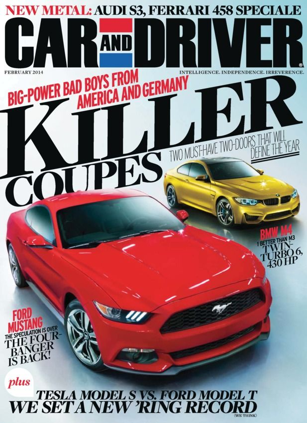 Car And Driver February 2017 Two Coupes Face Off Ford Mustang Vs Bmw M4 Plus Talking To The Team Behind 50th Anniversary