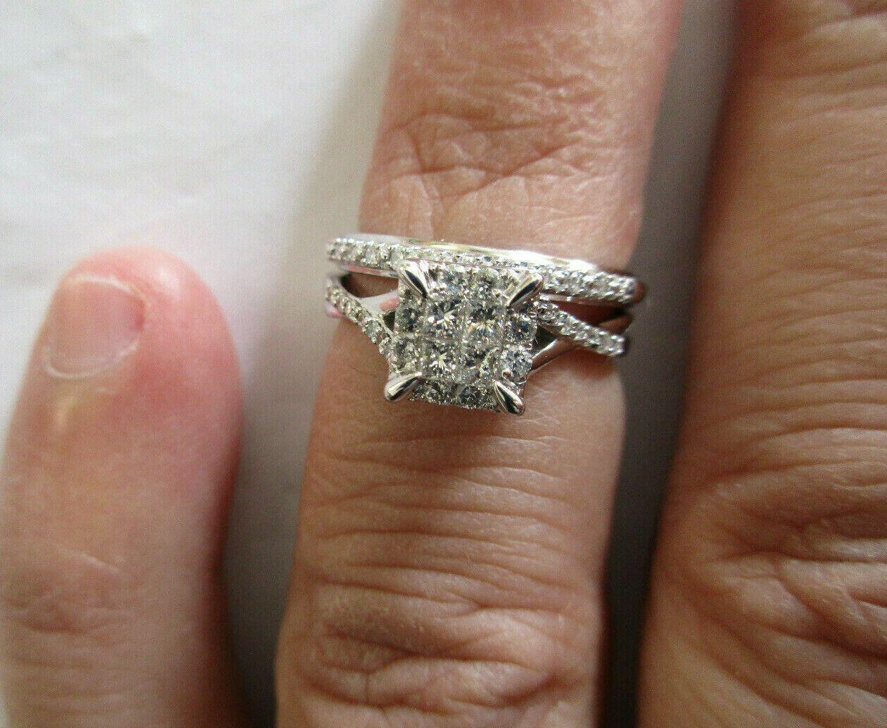 10k Gold Diamond Engagement Ring Set Tcw 1 05 Carat D Vs1 Size 5 Value 3950 Black Diamond Ring Black Diamond Ring Diamond Engagement Ring Set Diamond Ring