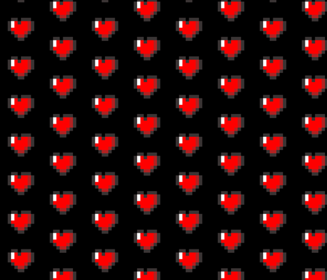 Colorful Fabrics Digitally Printed By Spoonflower Pixel 8 Bit Heart Black Fabric Zelda Quilt Custom Fabric