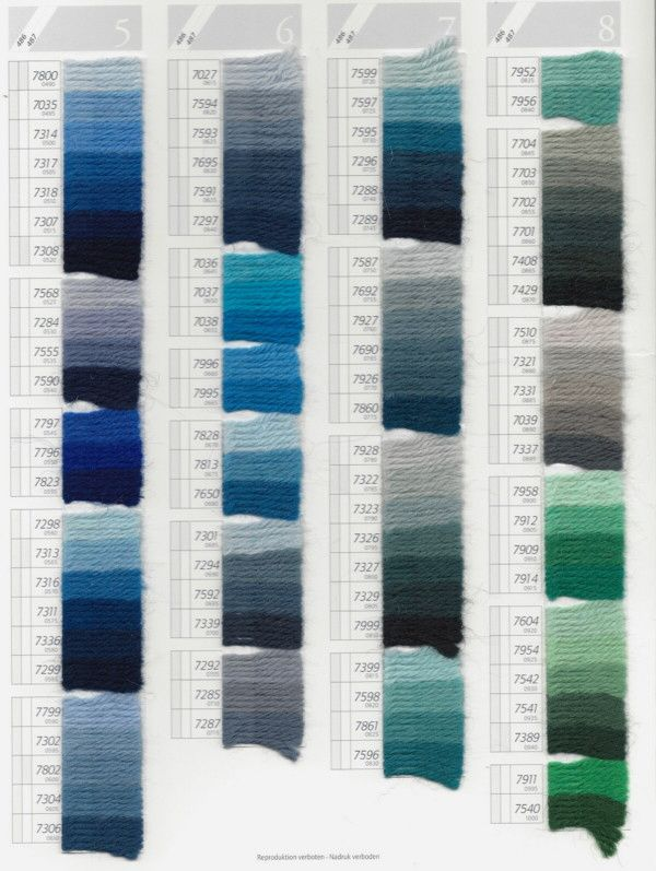 Dmc Tapestry Wool Color Chart Scan Pg 2 Broderies Needlepoint