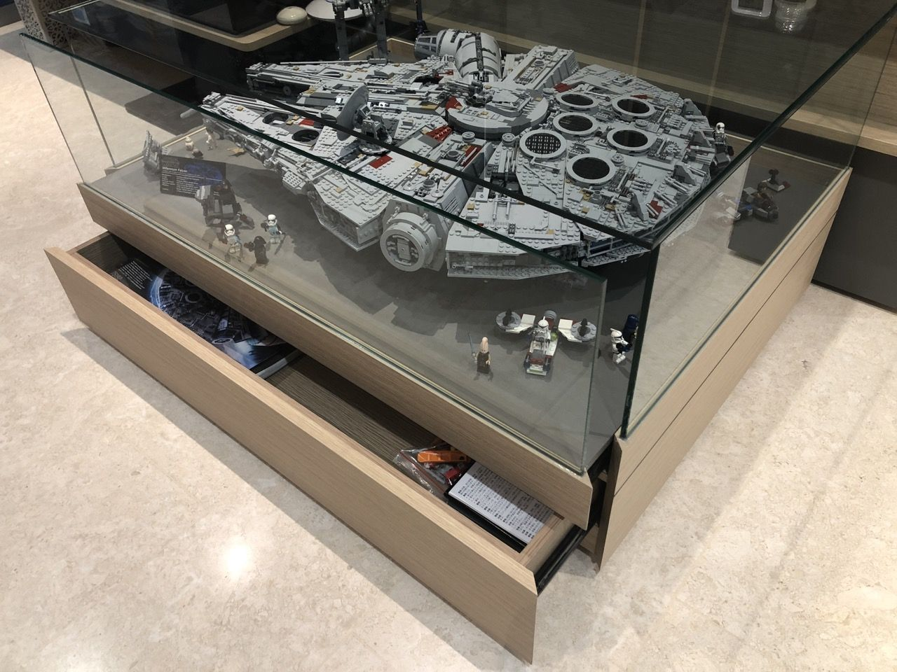 Watch Out For The Ultimate Millennium Falcon 75192 Assembled And Star Wars Room Millennium Falcon Lego Display
