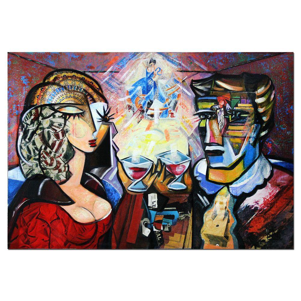 moderne kunst rendezvous i malerei kunstproduktion verkaufen gemälde modern