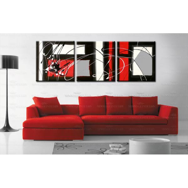 Cuadro Abstracto Rojo Blanco Y Negro Child Of The Streets