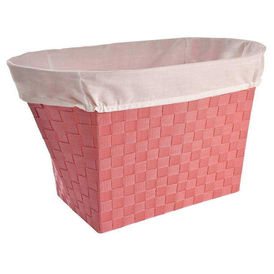 Pink Plastic Laundry Basket Lamont Home Linden Oval Clothes Hamper Blue  Products