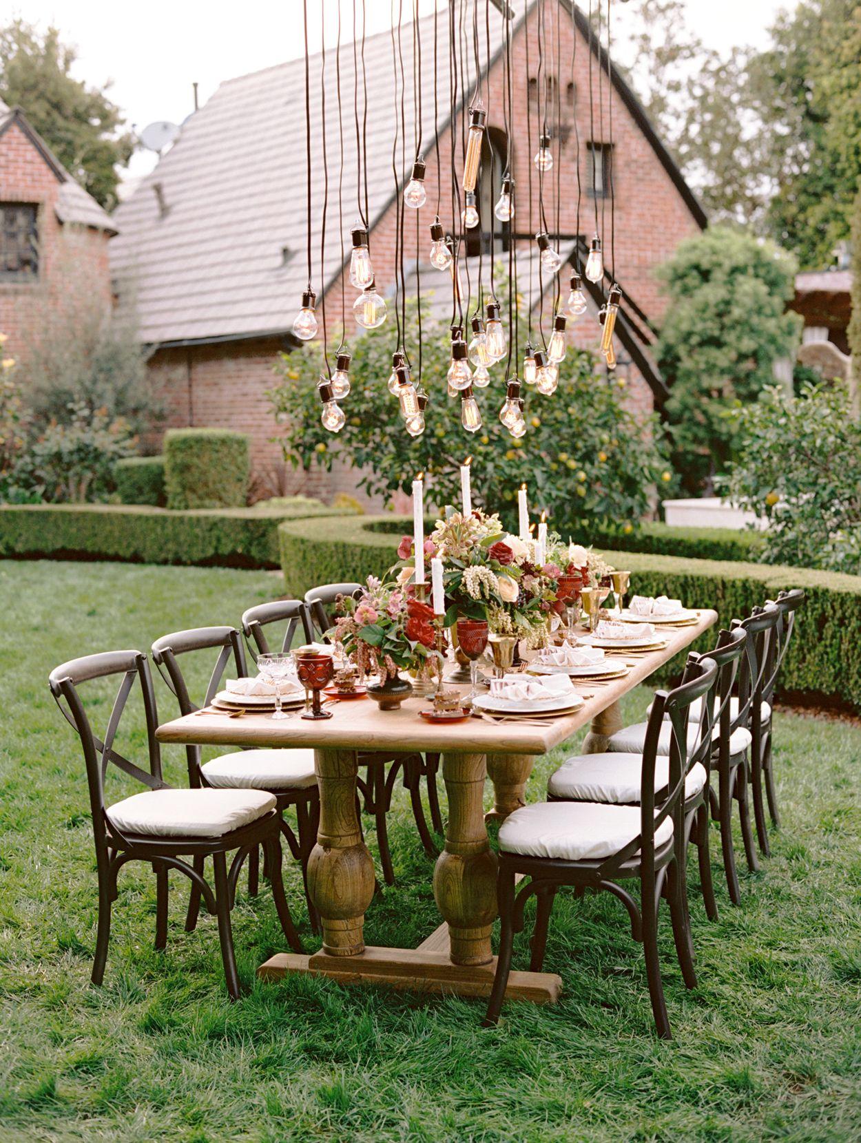 elegant decorations wedding table lights. Photography : Marisa Holmes Read More On SMP: Http://www.stylemepretty.com/2014/10/17/elegant-estate-wedding -inspiration-part-2/ Elegant Decorations Wedding Table Lights D