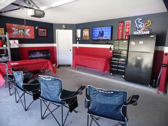 Old Garage Man Cave : Houston texans garage man cave men