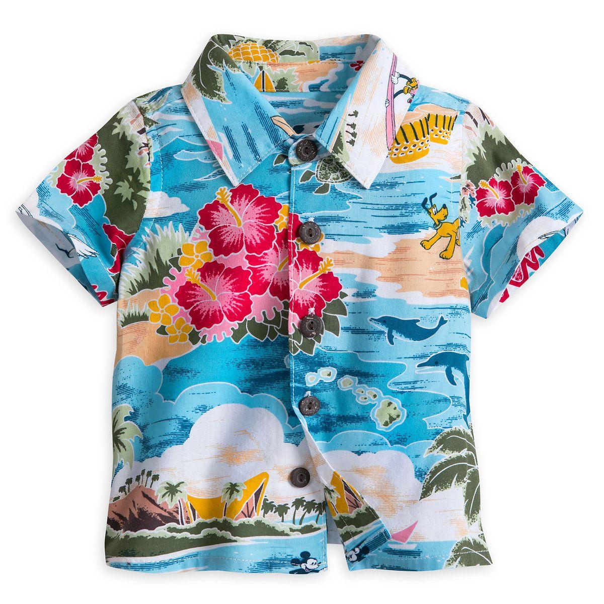 Mickey Mouse and Friends Hawaiian Shirt for Baby | Hawaiian print ...