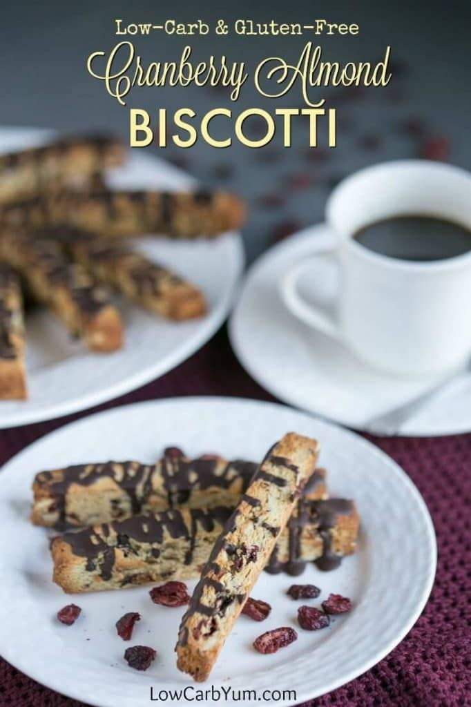 Low Carb Cranberry Almond Biscotti Cookies Are Elegant Yet