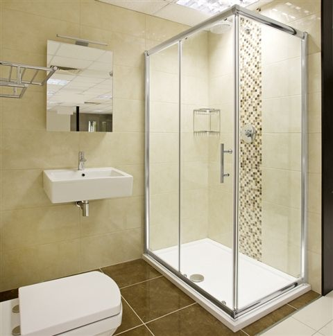 Bathroom Designs · Helene Sliding Door Shower Enclosure