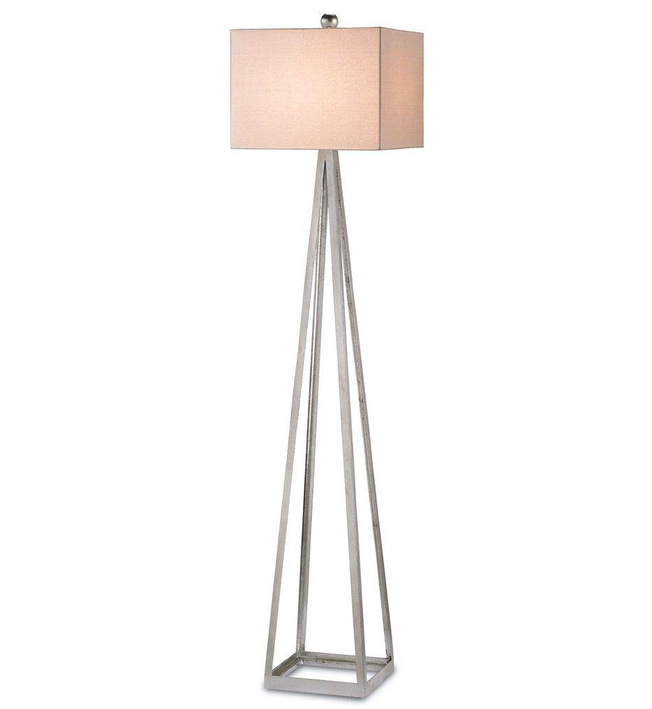 Currey Company 8069 Bel Mondo Floor Lamp With Silver Leaf Finish In 2020 Floor Lamp Silver Floor Lamp Modern Floor Lamps
