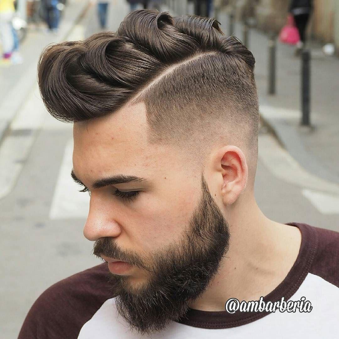 Mens haircut pompadour haircut by ambarberia iftsykyo menshair