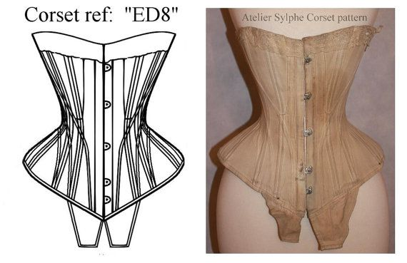 Patron patronage de corset Edwardien S par AtelierSylphecorsets, $36.00