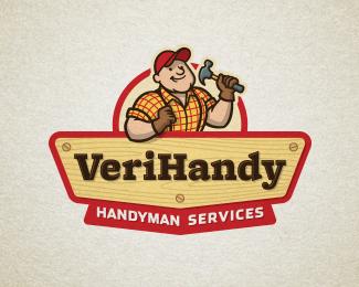 VeriHandy Logo By Devey on Logopond-Really like the linework