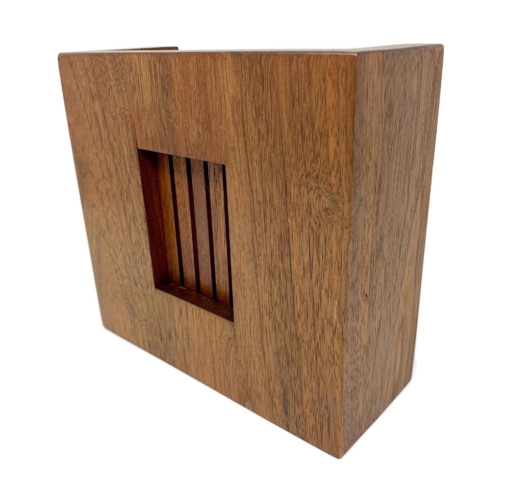 Mid Century Modern Doorbell Chime Cover Walnut Doorbell Box Cover Door Bell Chime Wood Doorbell Cover In 2020 Modern Doorbell Doorbell Chime Mid Century Modern