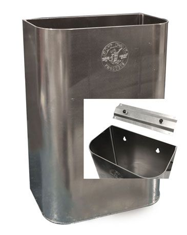 Pitpal Products Aluminum Garage Trash Can Wall Mount Dimensions 11 1 2in W X 16in H X 6 3 4in D 090 Tig Welded Al Aluminum Garage Trash Can Aluminum